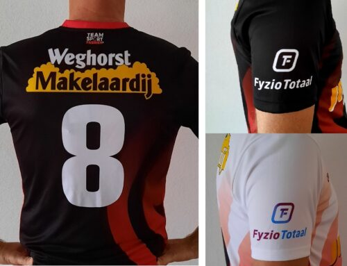 Wedstrijdshirt, nog 2 sponsoren