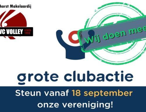 Grote Clubactie start zaterdag 18 september